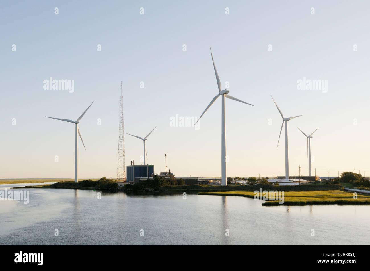 Jersey-atlantischen Windpark, ersten Windpark in New Jersey Stockbild