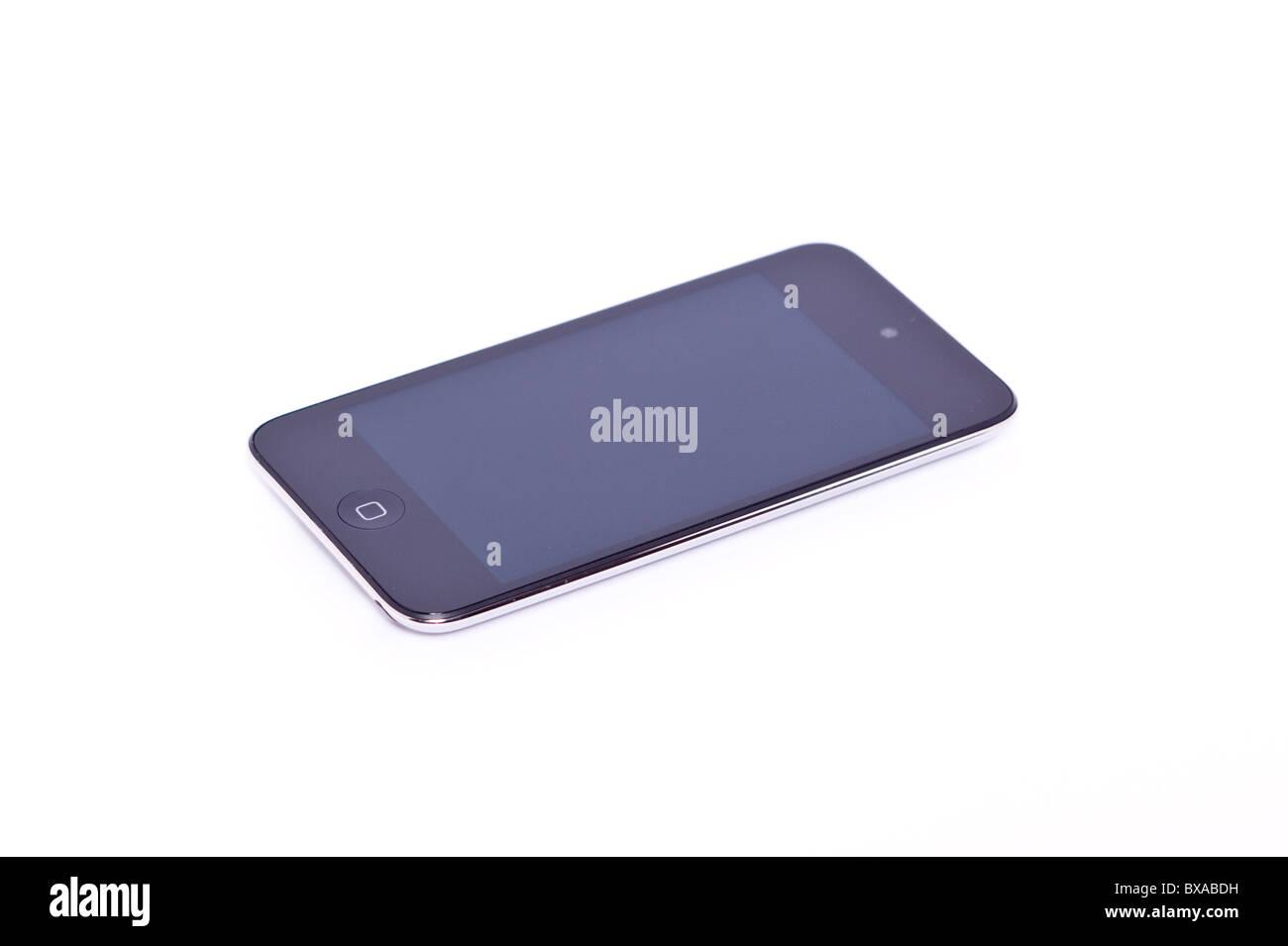 Der neue Apple Ipod touch 4. Generation 4G 32gb Mediaplayer auf einem weißen Hintergrund Stockbild
