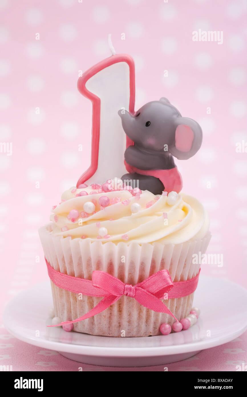 Ersten Geburtstag Cupcake Stockfoto Bild 33421443 Alamy