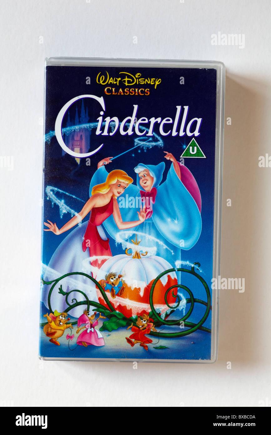 Cinderella Video Walt Disney Klassiker Gesetzt Vor Weißem