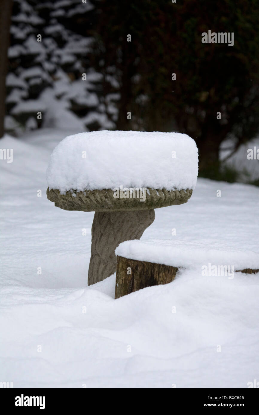 Frozen Birdbath Stockfotos & Frozen Birdbath Bilder - Alamy