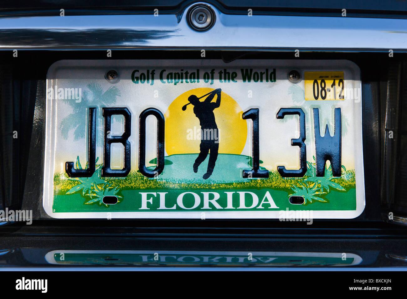 Florida Fahrzeug Nummernschild, USA Stockfoto, Bild: 33470269 - Alamy