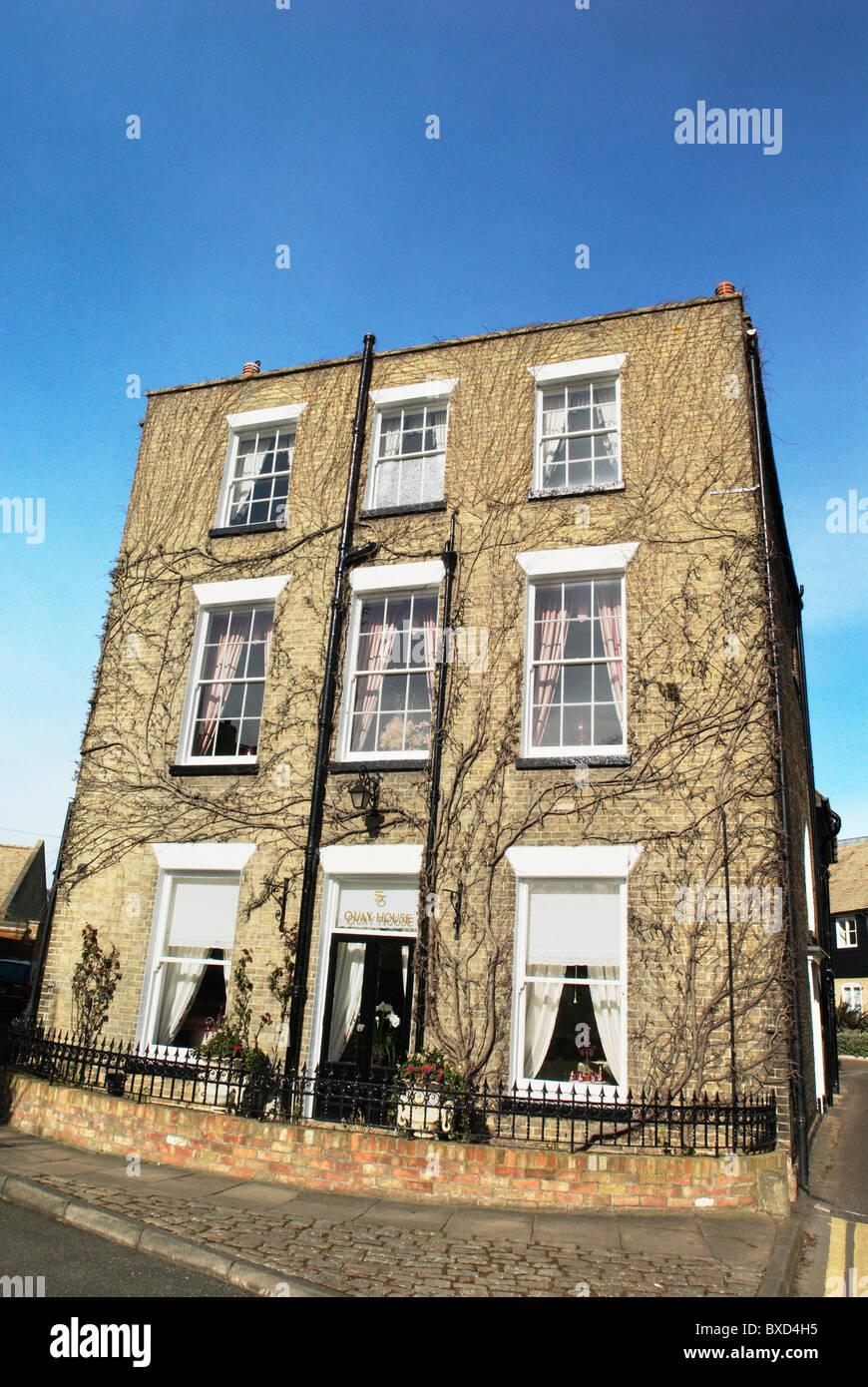 Flachdach-zweistöckige georgianischen Stadthaus Ely Cambridgeshire UK Stockfoto