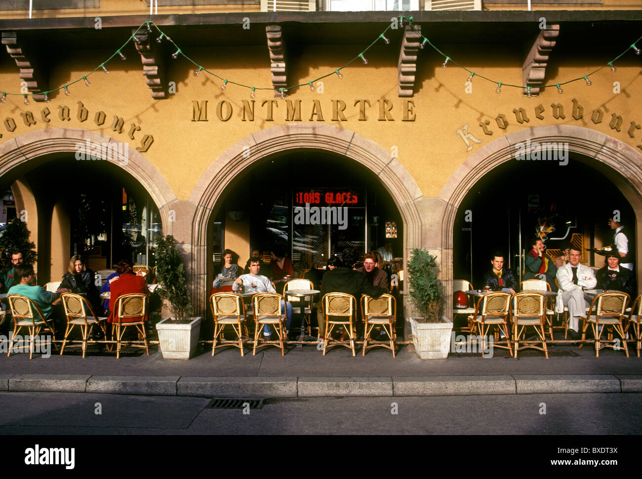 Franzosen, Touristen, Essen, Cafe, Restaurant, französische Küche ...