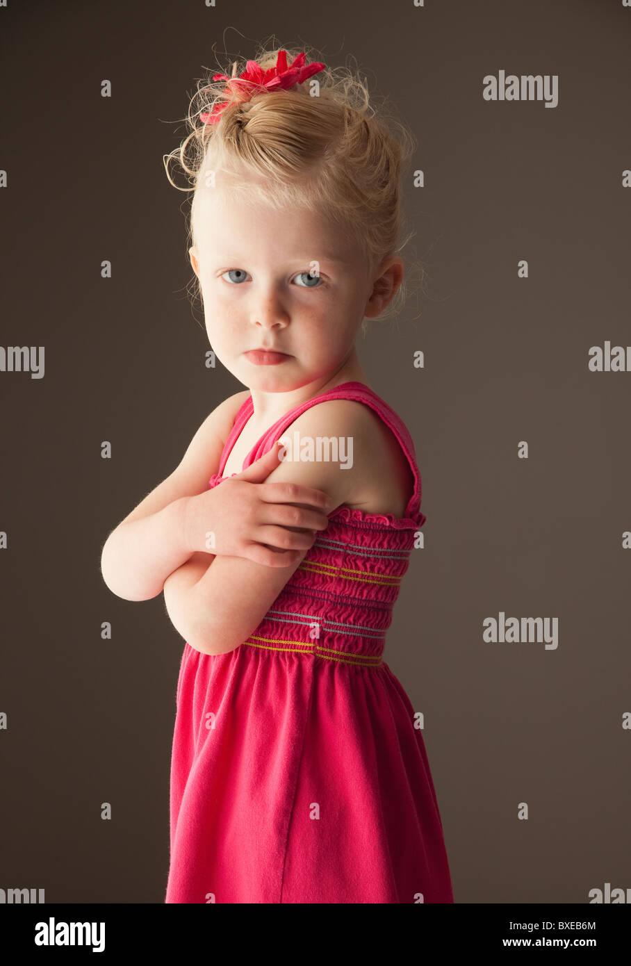 Schmollend junges Mädchen Stockbild