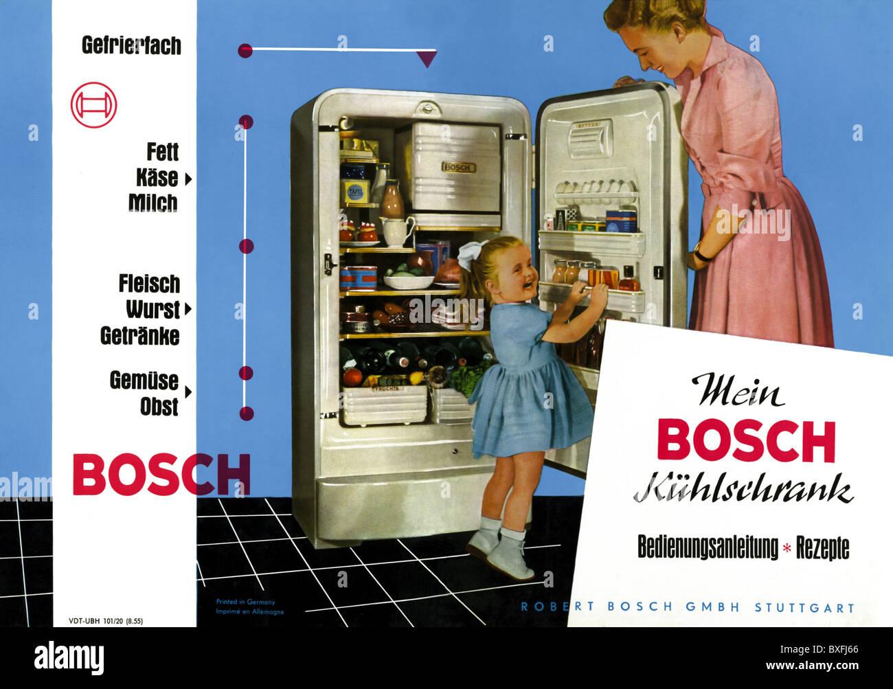 Bosch Kühlschrank 50er Jahre : Werbung haushaltsgeräte haushaltswaren küchengeräte bosch