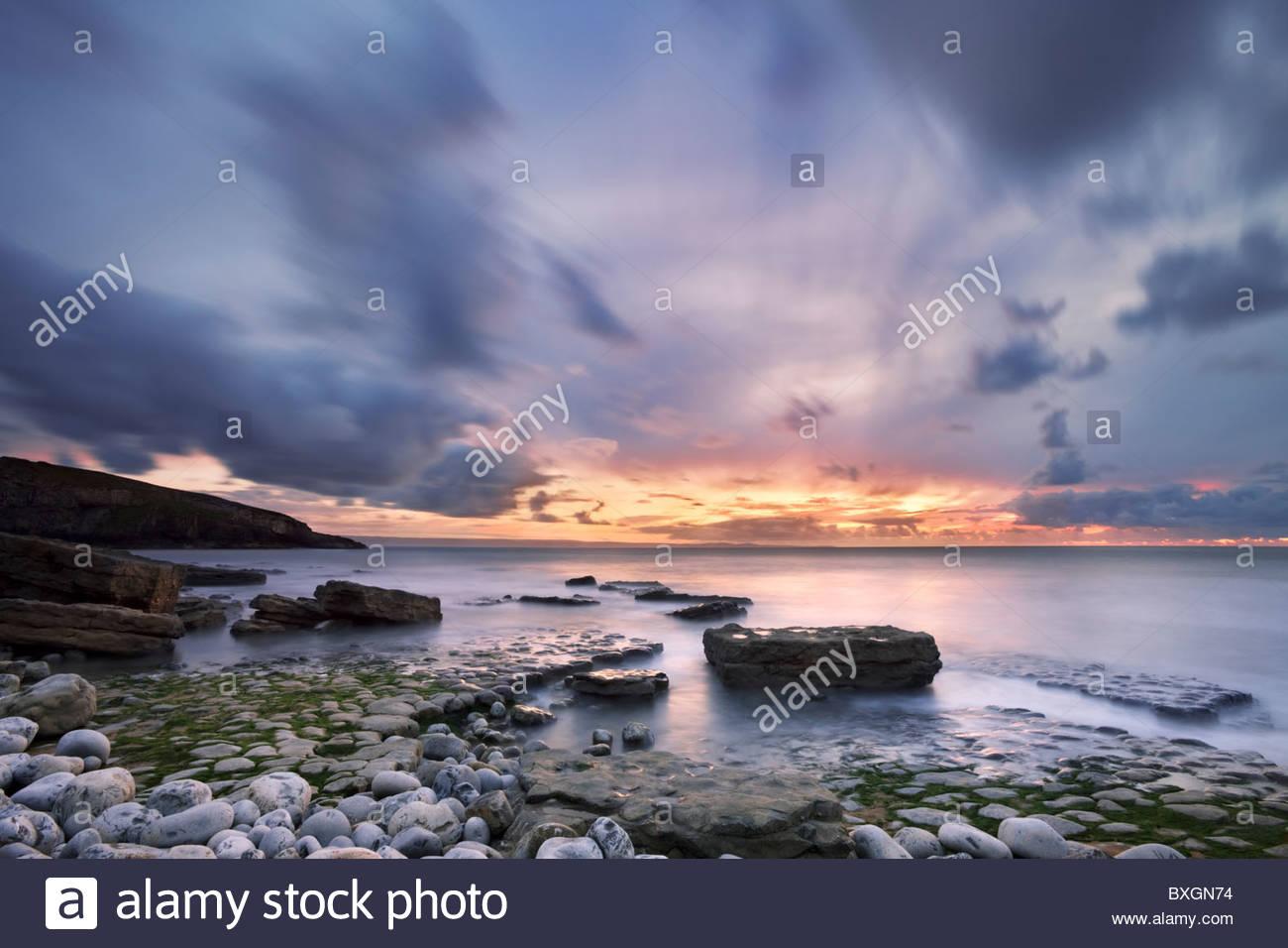 Dunraven Bay, South Glamorgan, Wales, UK Stockbild