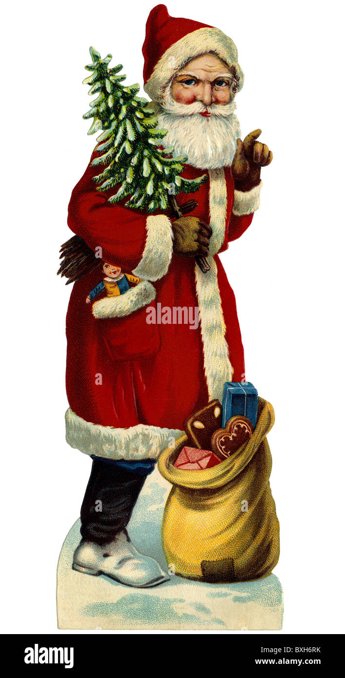 Tradition/Folklore, Deutschland, Santa Claus, circa 1929,- Additional-Rights Clearences-NA Stockbild