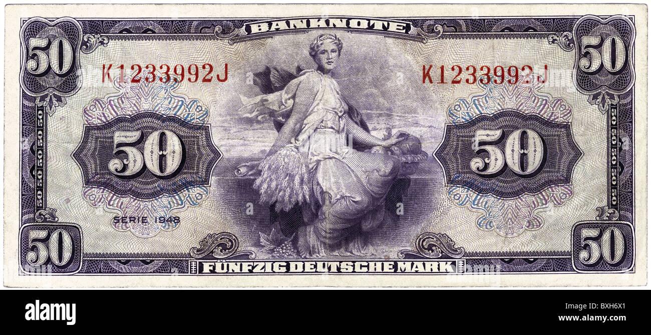 money finance bank notes germany stockfotos money. Black Bedroom Furniture Sets. Home Design Ideas