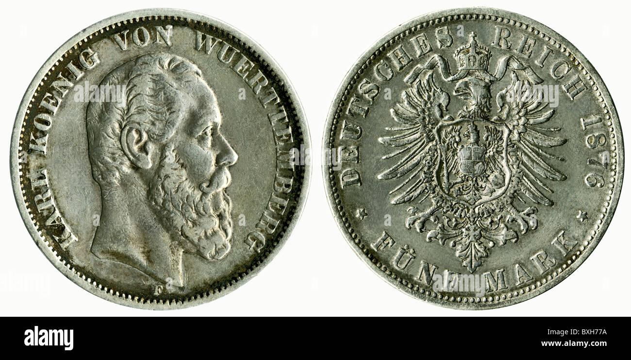 Geldfinanzen Münzen Deutschland 5 Mark Münze Mit Karl König Von