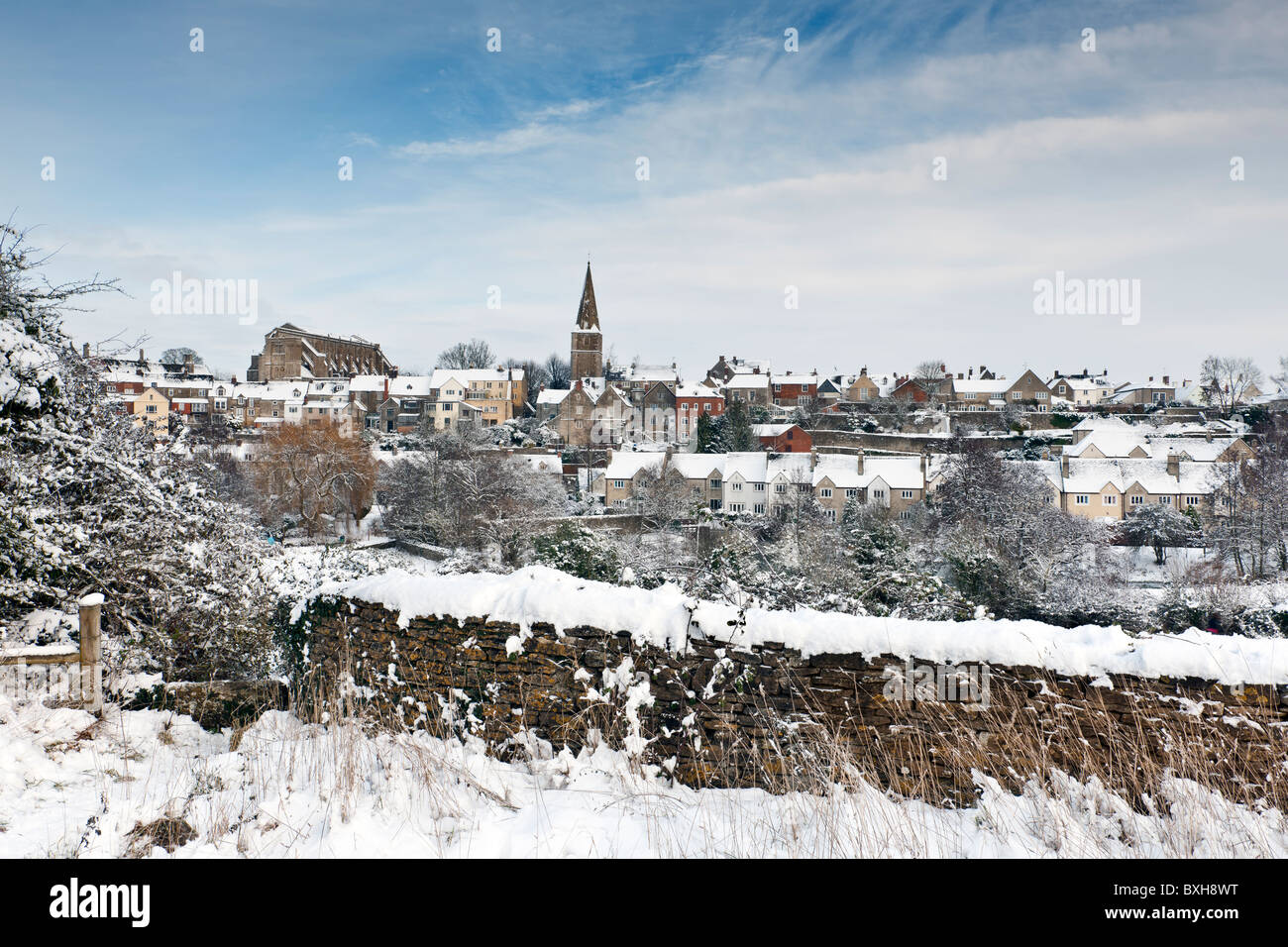 Winter in Wiltshire Stockbild