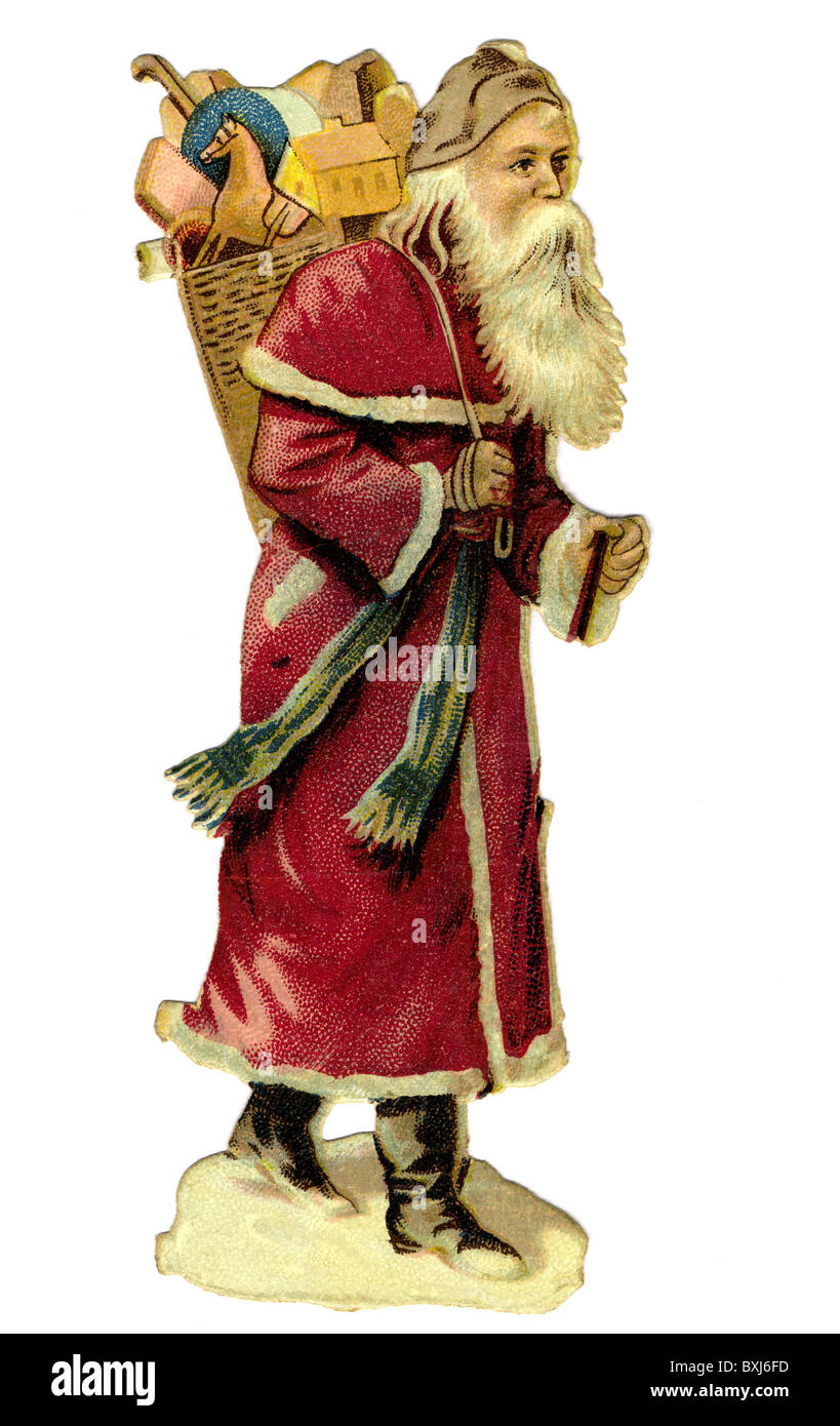 Tradition/Folklore, Deutschland, Santa Claus, Illustration, ca. 1908 Additional-Rights - Clearences-NA Stockbild