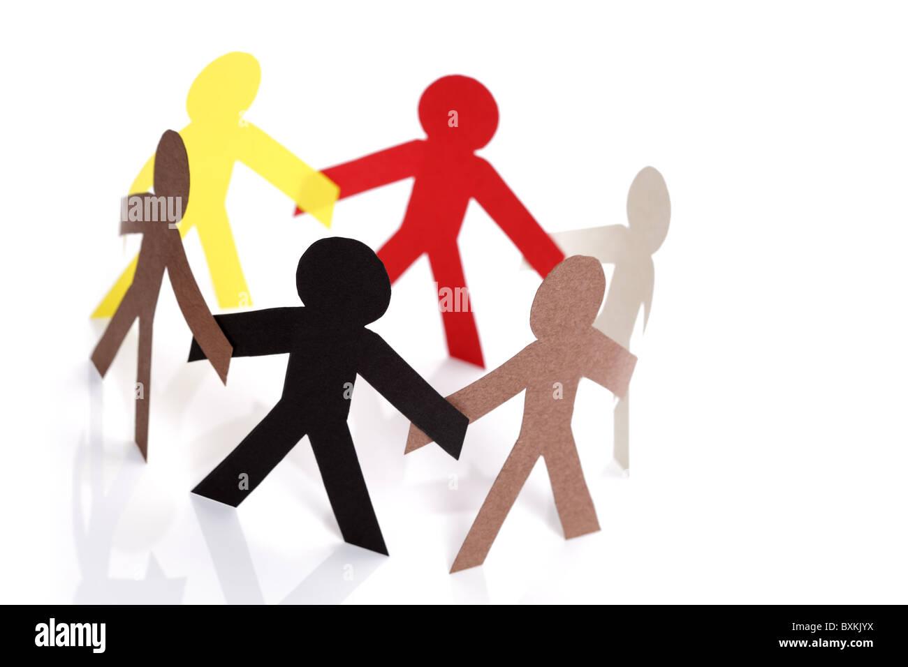 Gemeinschaft und Freundschaft Stockbild