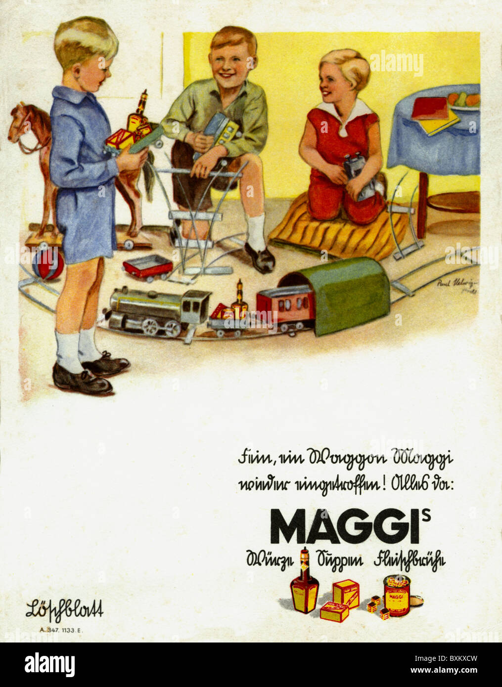 Maggi advertising stockfotos bilder