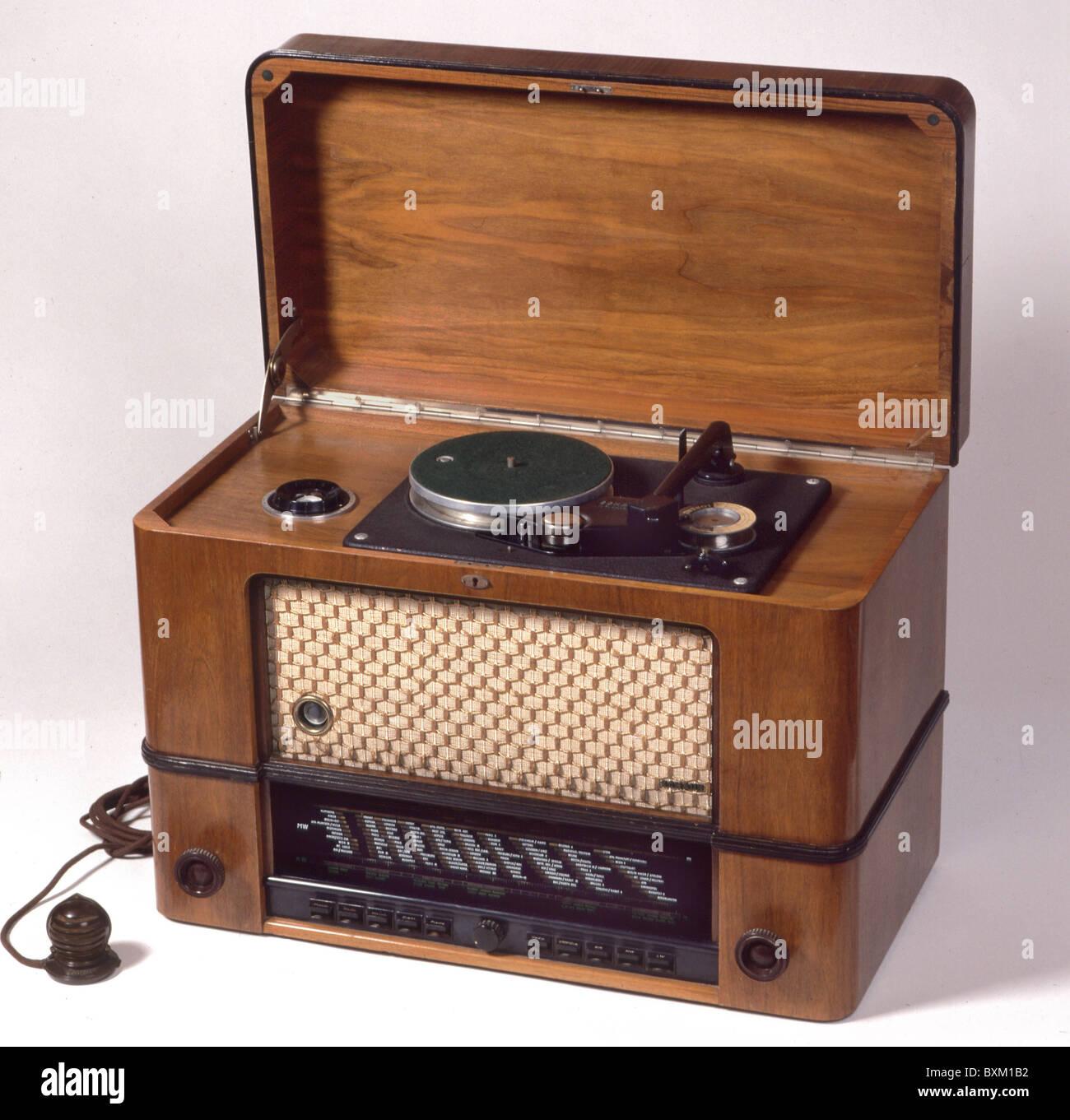 Rundfunk, Radio, Schaub Supraphon, integrierten Plattenspieler und ...