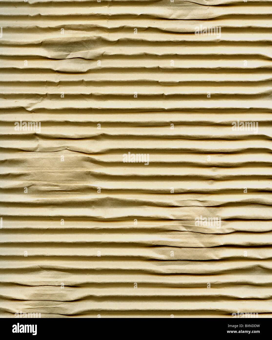 Strukturierte gestreiften Wellpappe mit Naturfaser-Teile Stockbild