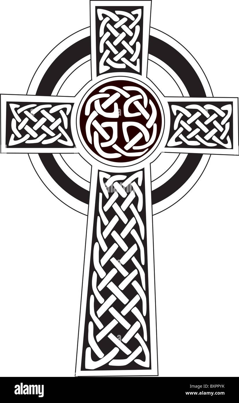 Komplexes Keltisches Symbol Groß Für Kann Vektor Vollständig