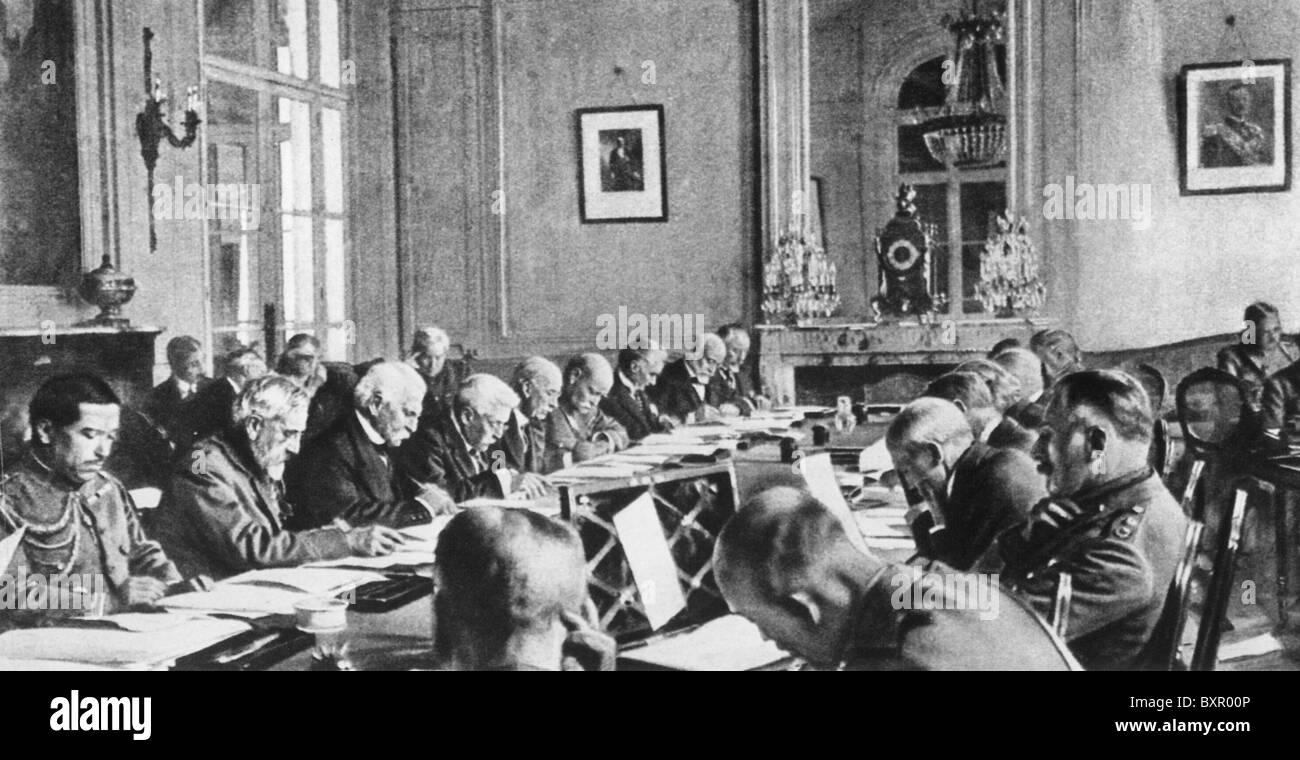 Vertrag Von Versailles 28 Juni 1919 Unterzeichner Aus Deutschland