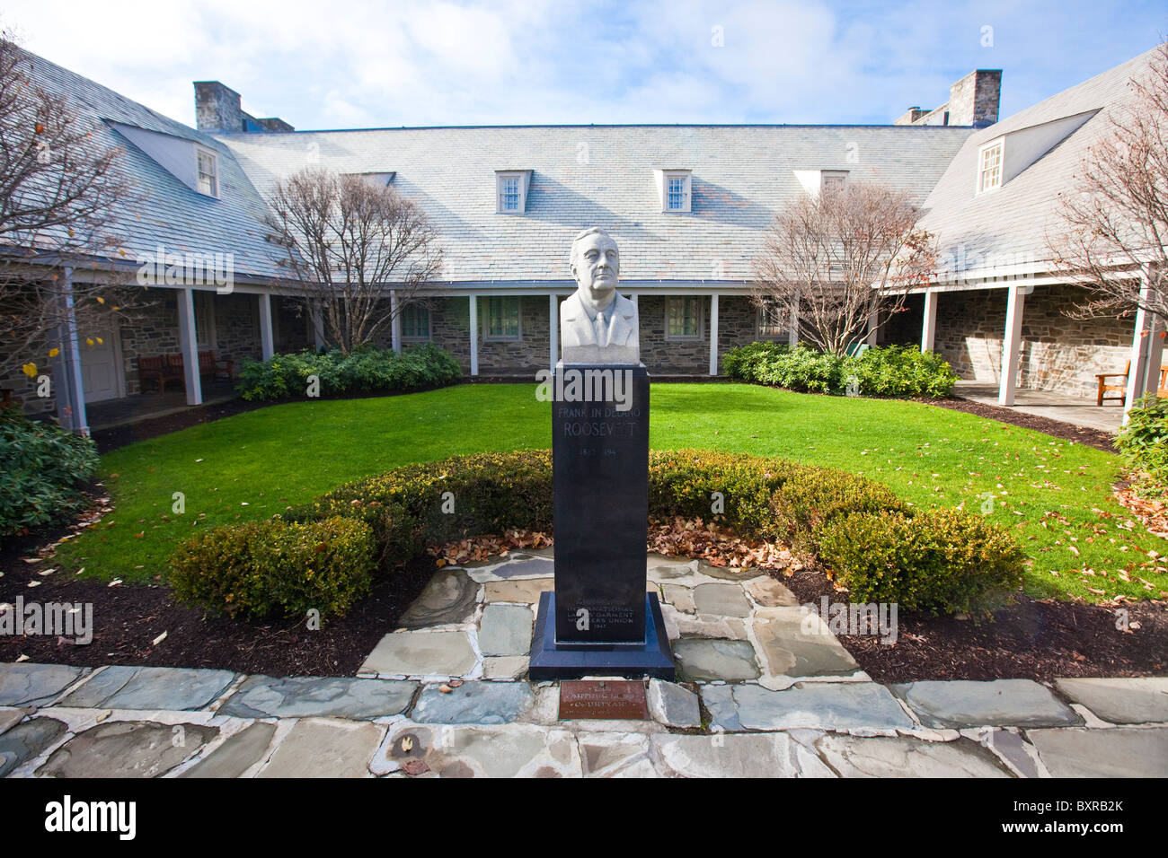 Franklin D Roosevelt Haus in Hyde Park, New York Stockbild