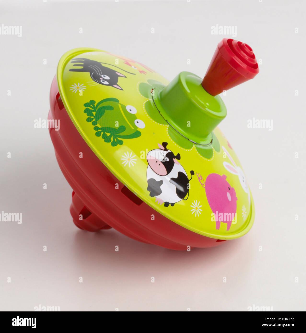 Spinning Top Kinderspielzeug Stockbild
