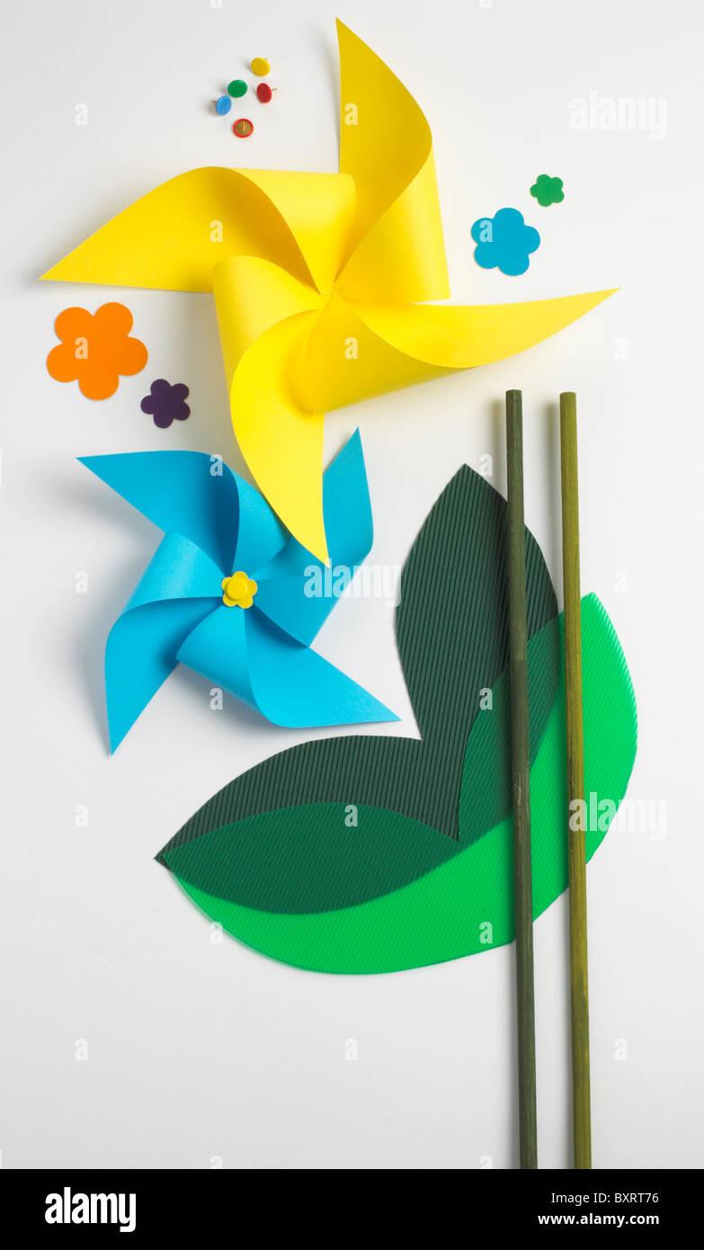 Machen eine Windmühle Stockbild