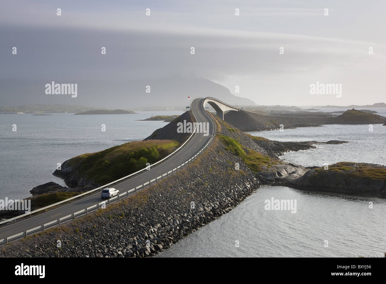 Storseisundbrua Brücke, The Atlantic Road, Romsdal, Norwegen Stockbild