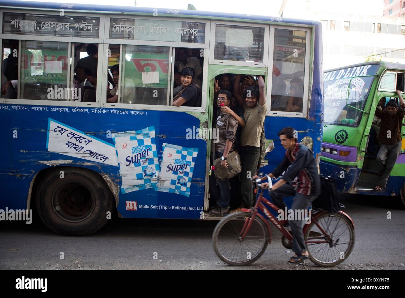 Rush Hour in Dhaka, Bangladesch Stockbild