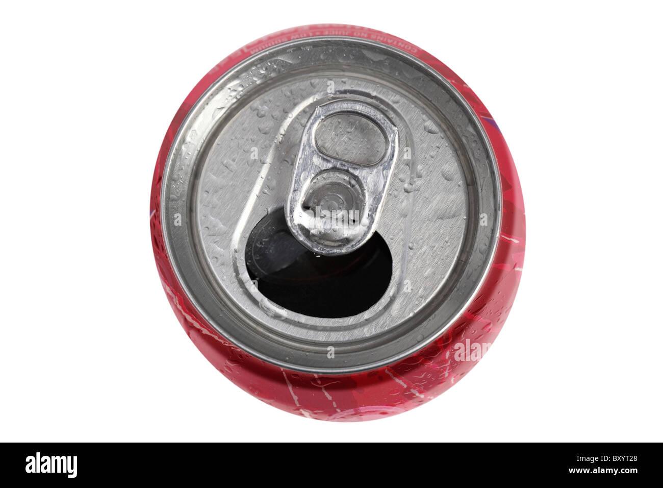 Getränkedose auf weißem Hintergrund Stockbild