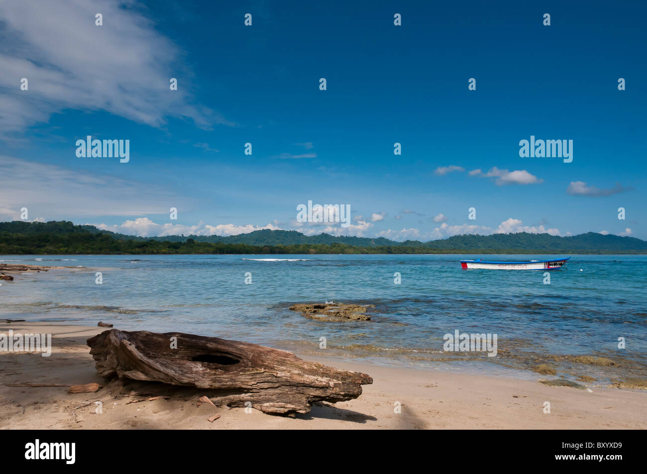 Puerto Viejo Strand Karibik Küste Costa Rica Stockbild