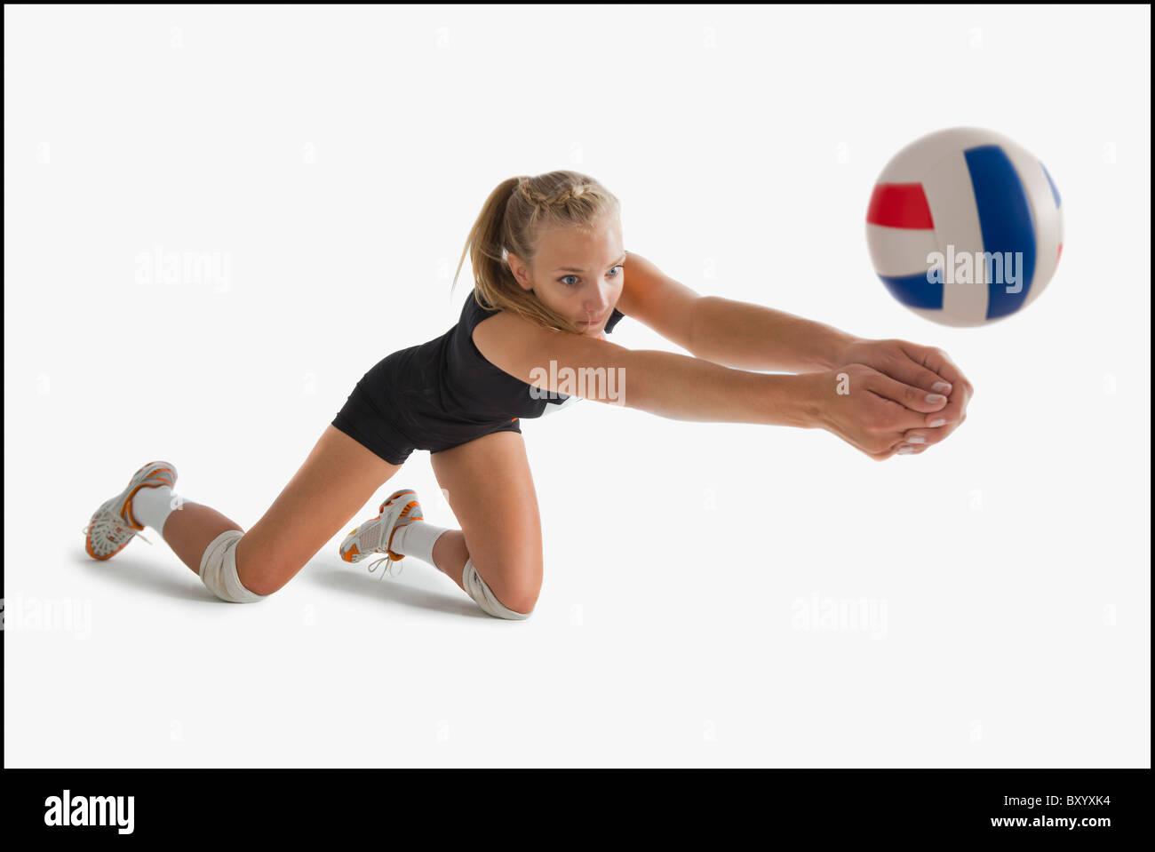 Mädchen Volleyball Team Stockfotos Mädchen Volleyball Team Bilder