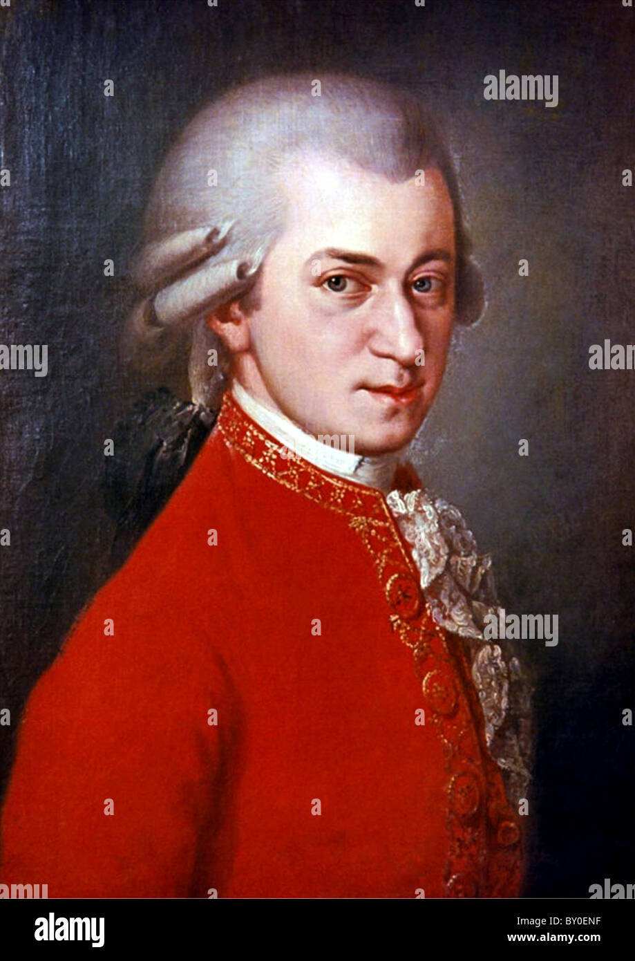 Mozart, Komponist Wolfgang Amadeus Mozart Stockbild