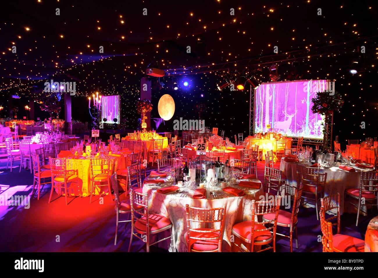 large ballroom set up party stockfotos large ballroom. Black Bedroom Furniture Sets. Home Design Ideas