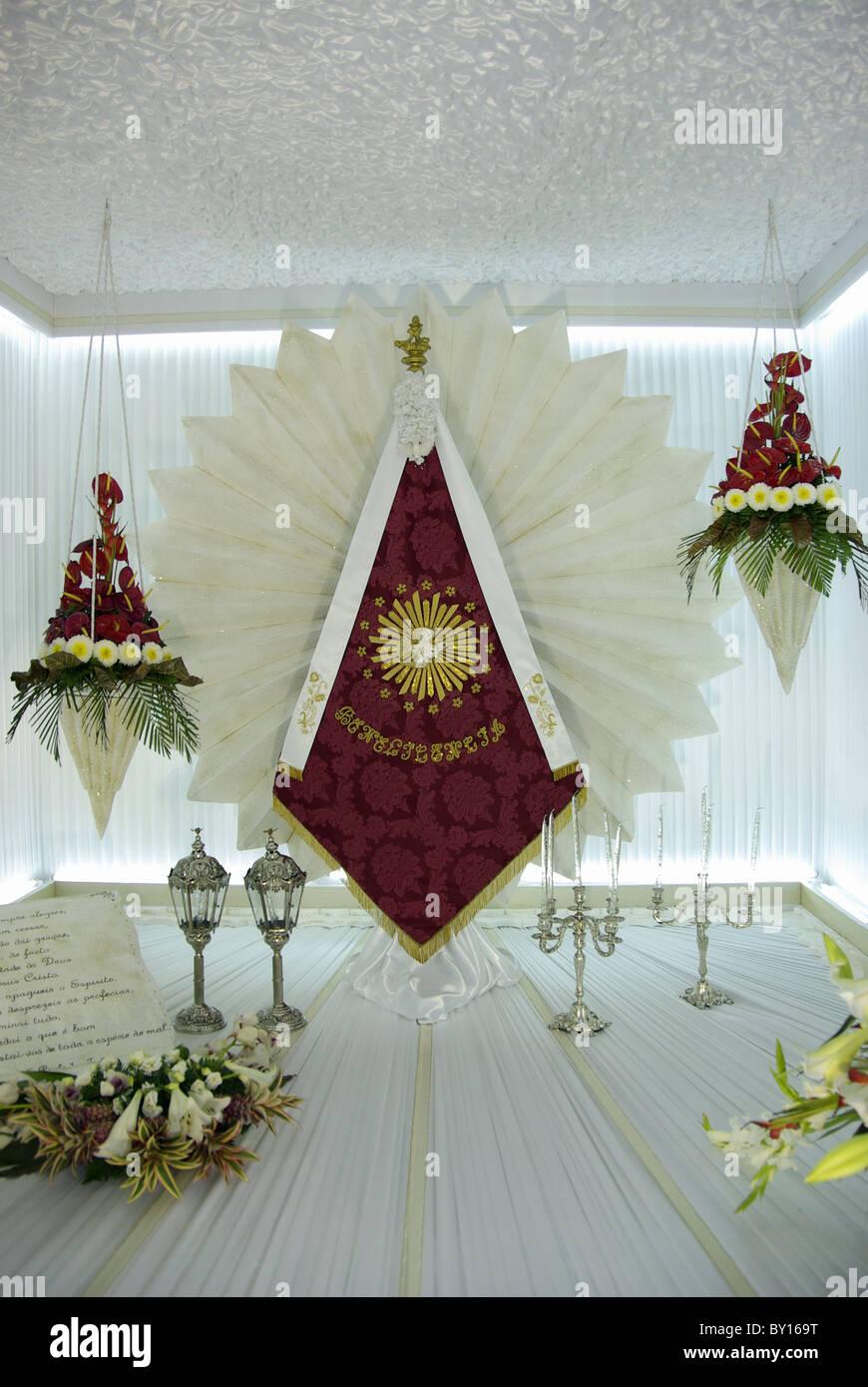 Traditionelle Feste des Heiligen Geistes eingerichtete Zimmer auf ...