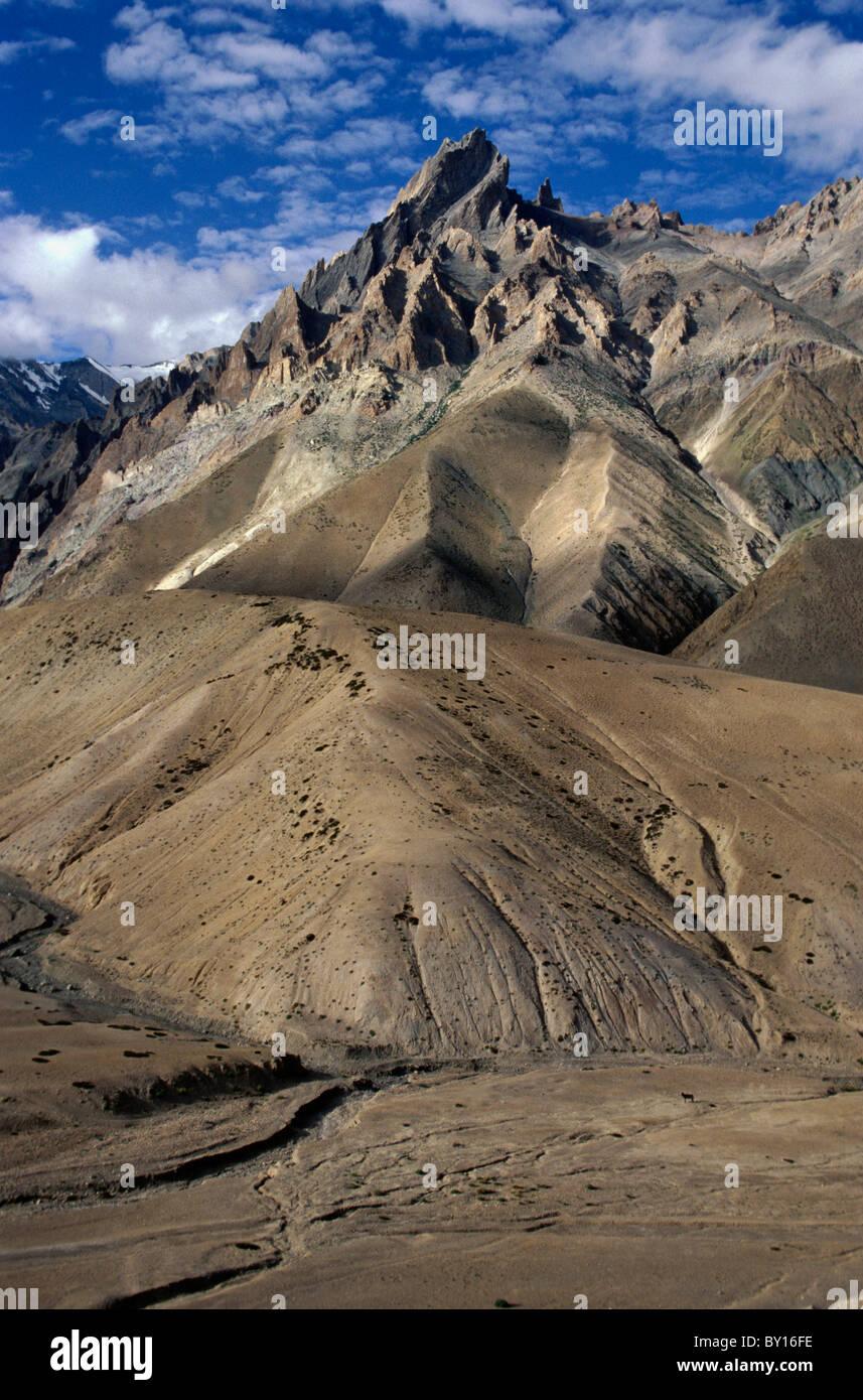 Berglandschaft Bei Kargil, Ladakh (Bihar +), Indien Stockbild