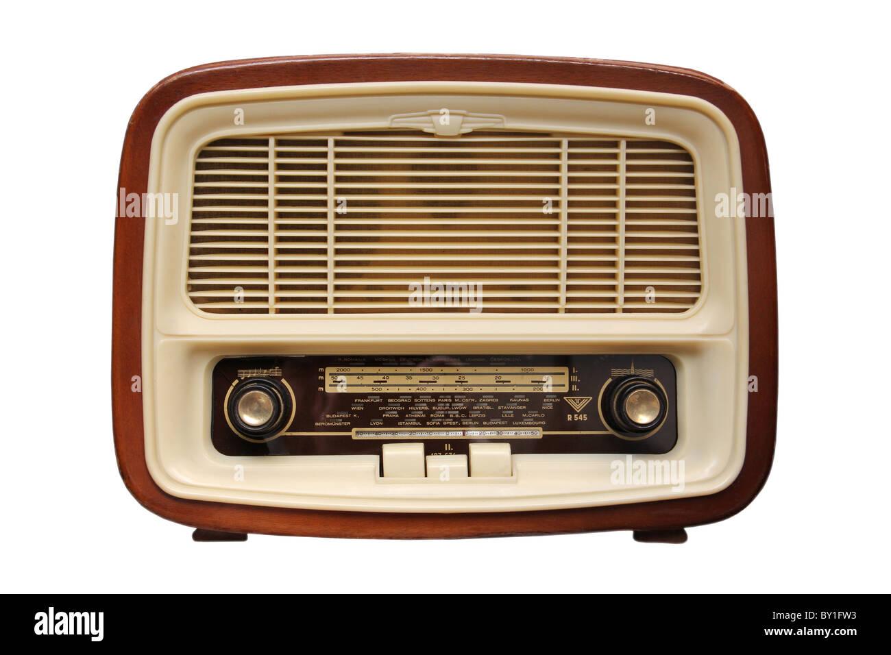 altes radio von 1950 und die jahre stockfoto bild. Black Bedroom Furniture Sets. Home Design Ideas