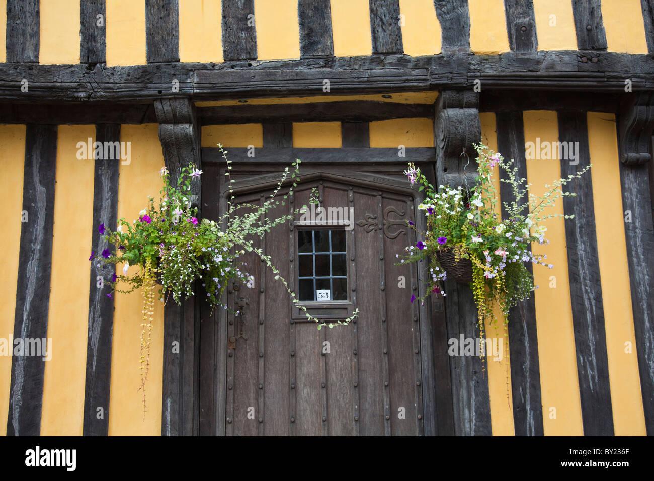 Ludlow Shropshire, England. Ein altes Fachwerkhaus in der Markt ...
