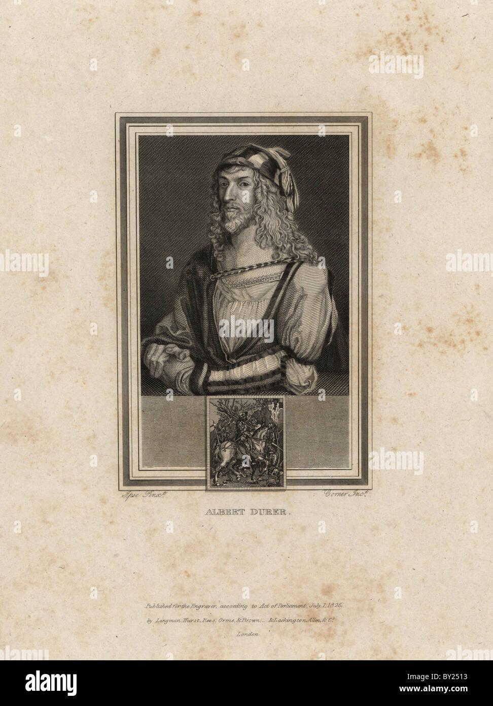 Selbstbildnis von Albrecht Dürer (1471-1528). Stockbild