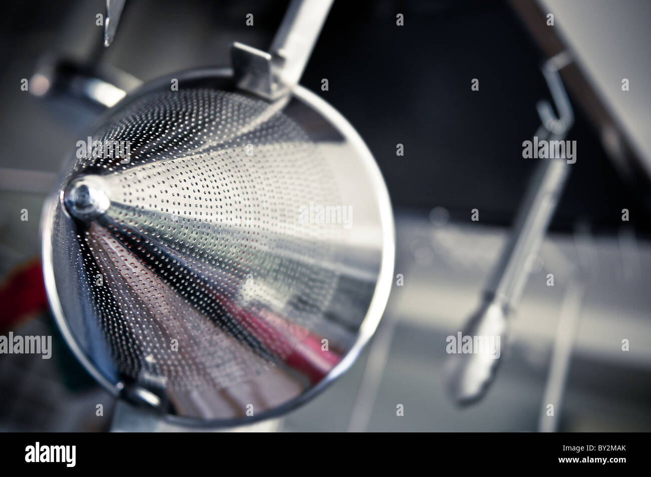 Silber Küchenutensil Stockbild