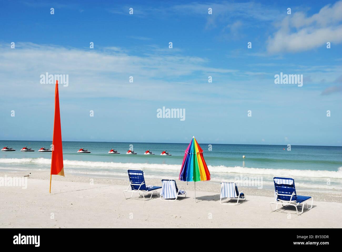 Ruhige Strand-Szene auf Marco Island Florida FL USA Stockbild