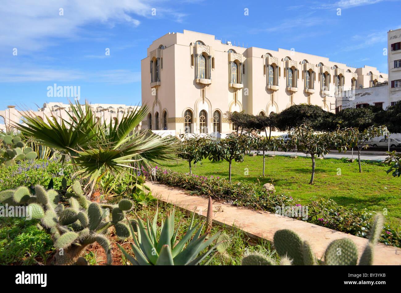 Casablanca Buchforst, Moschee in der Innenstadt, Hassan II.-Moschee, Casablanca Stadtzentrum, Moschee in der Stadt Stockfoto