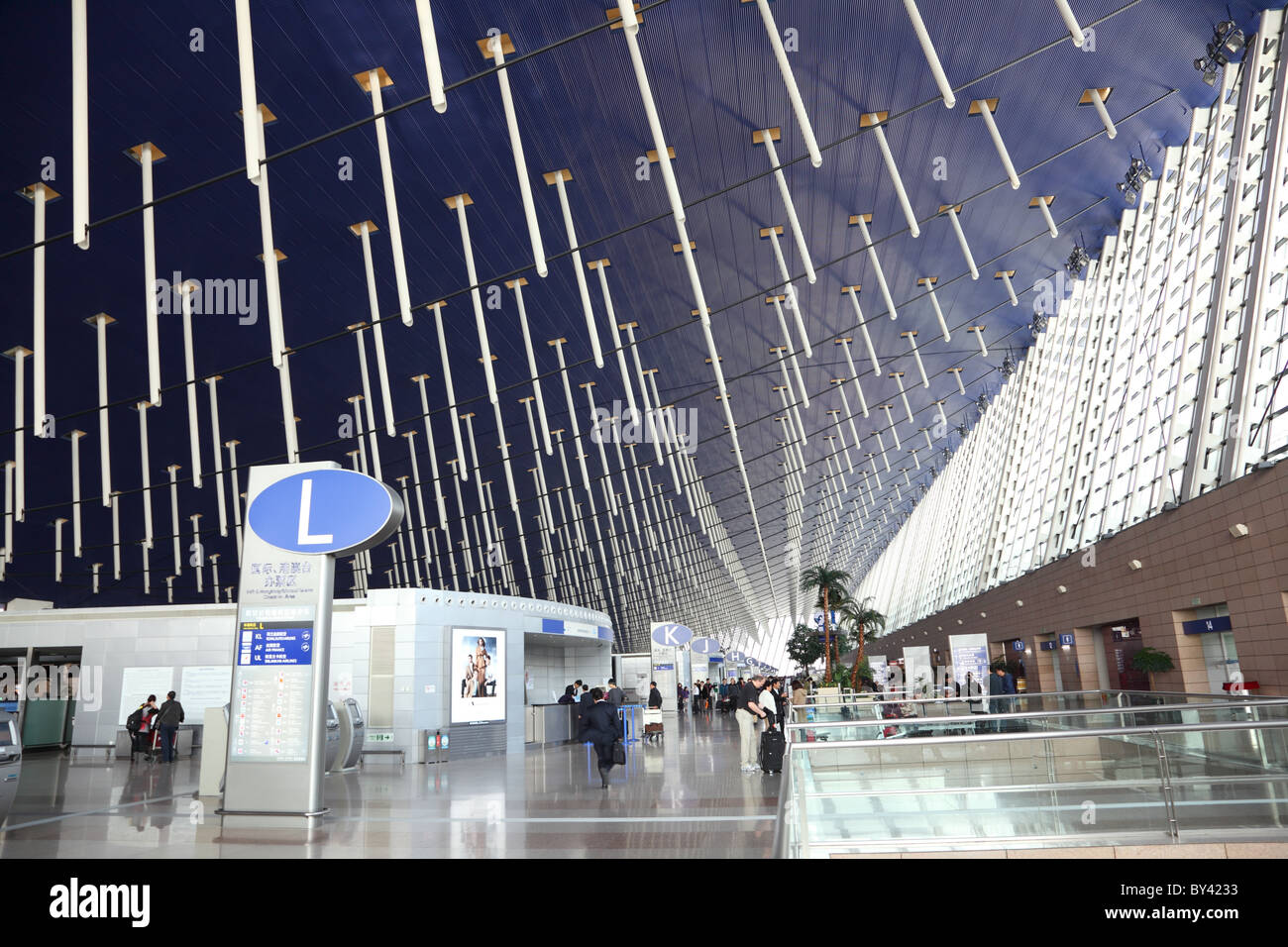 Shanghai International Airport. Stockbild