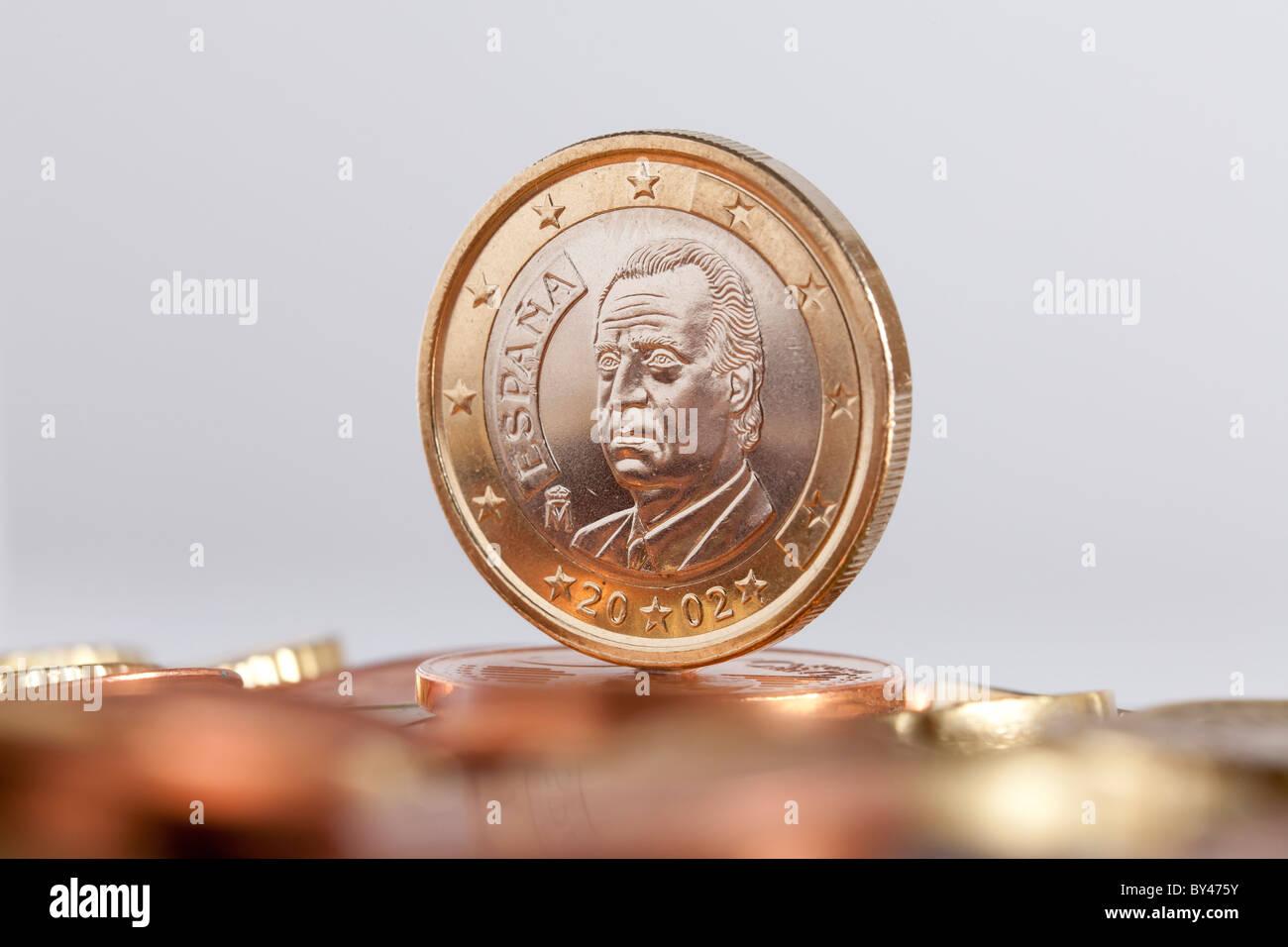Spanisch 1 Euro Münze Stockfoto Bild 33899543 Alamy