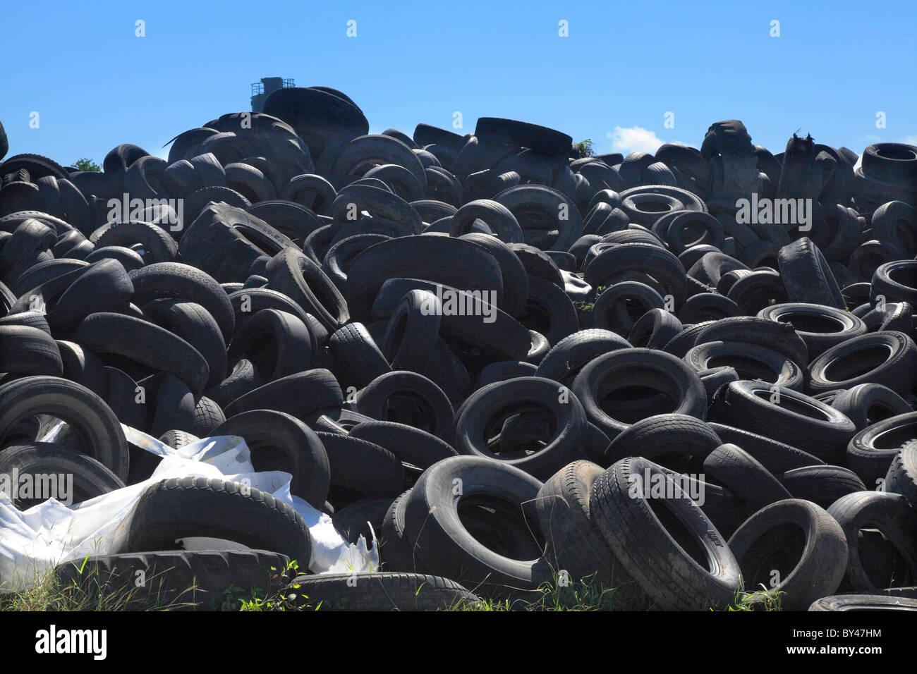 Reifen-Dump Stockbild