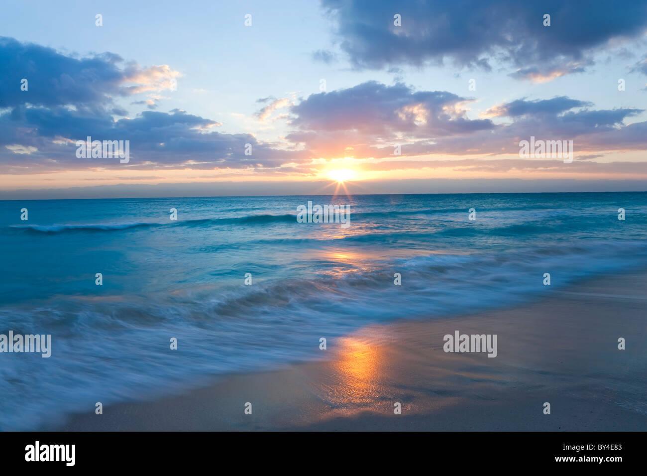 Sunrise, South Beach, Miami, Florida, USA Stockbild