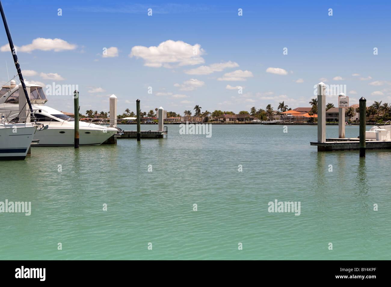 Florida Marco Island Marina Stockbild