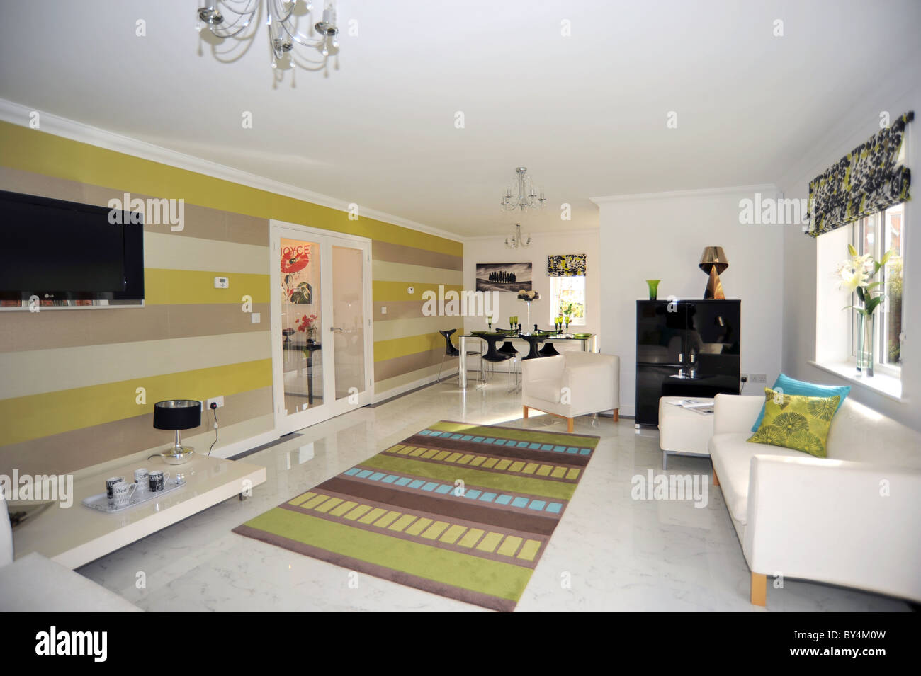 Neue show home Lounge-Interieur - UK Stockfoto, Bild: 33909593 - Alamy