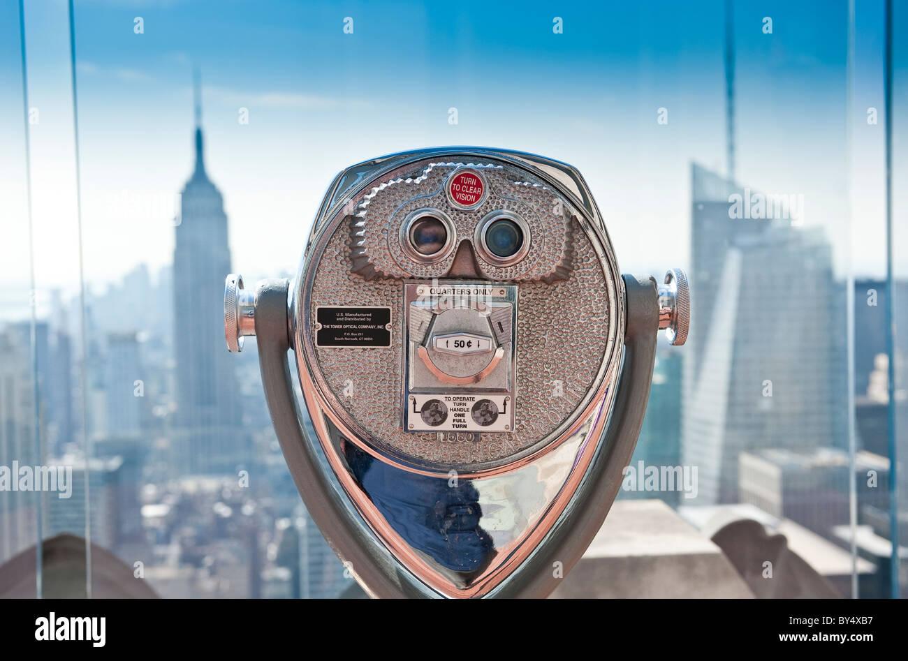 Das Rockefeller Center Aussichtsplattform, New York City. Stockbild