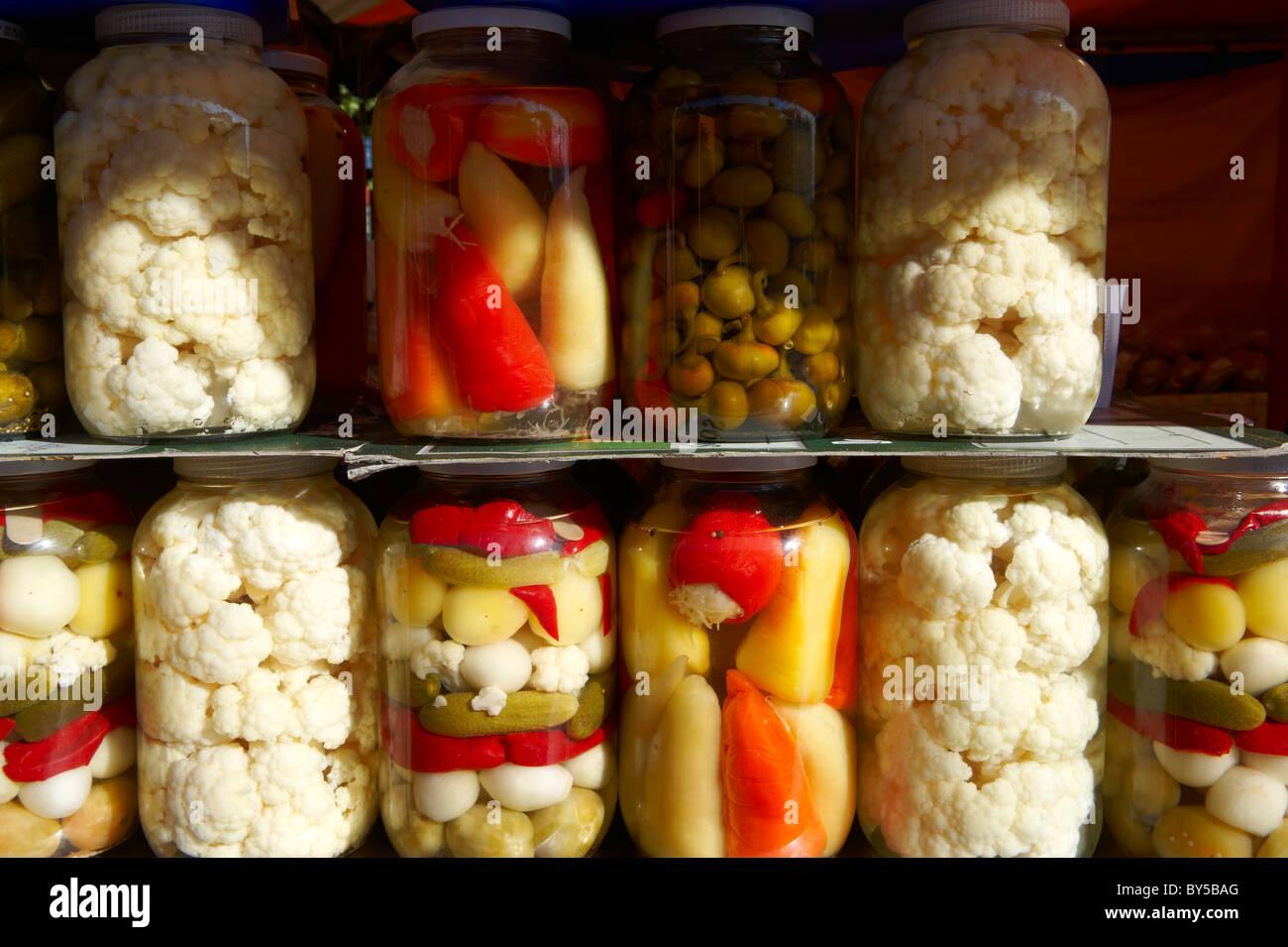 Eingelegtes Gemüse - Ungarisch Stockbild