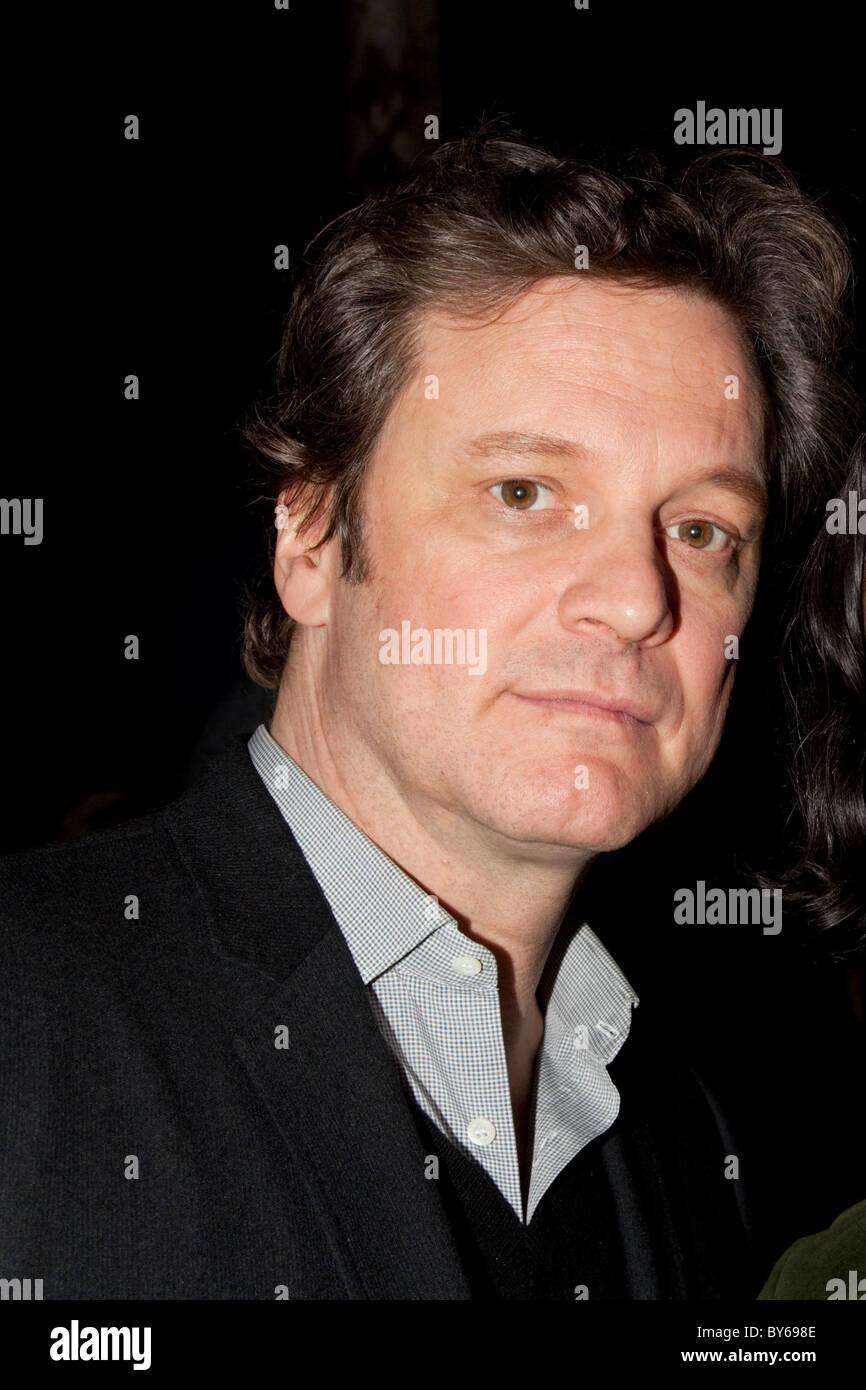 Schauspieler Colin Firth an Q&A-Session an der Clapham Picturehouse Kino Stockbild