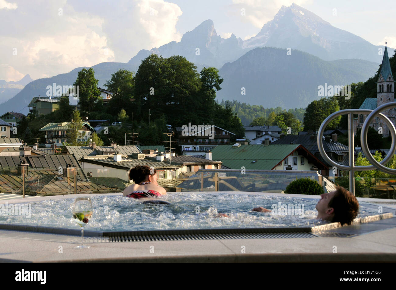 Whirlpool Mit Watzmann Hotel Edelweiss Berchtesgaden
